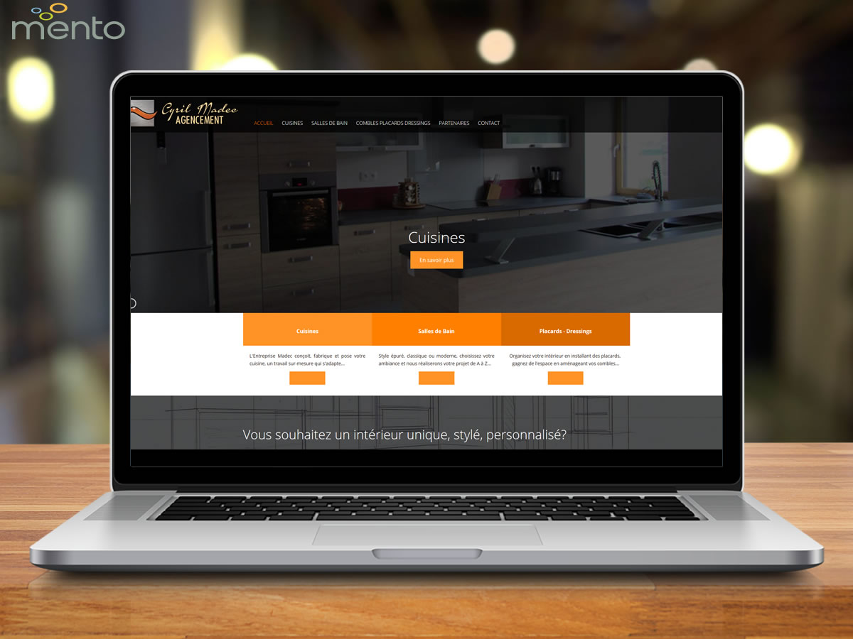Cuisines Madec<br>Site Internet